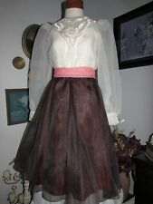 vtg Noel Sophisticates Chiffon Bouffant Party Dress Full Skirt wedding sz 5/6