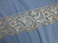Antique bobbin lace Le Puy / Bedfordshire? lace trim edging 1.6m