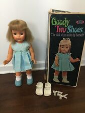 GOODY TWO SHOES Ideal Doll 1965 Clothes Box Vtg 19in Blonde Walker NOT TESTED