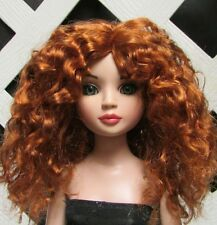 "Doll Wig, Monique Gold ""Ellowyne Rose"" Size 5/6 in Double Red"