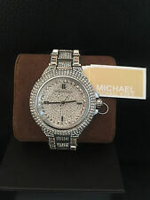 Michael Kors Women's Camille MK5869 Silver Tone Pave Crystals SALE New Tags/Box