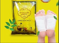 New 10pcs Heath Care Detox Foot Pad Cleasing Patch Made in Thailand Lanna