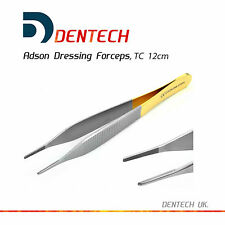 "TC ADSON DRESSING FORCEPS TWEEZERS SERRATED 12cm 5"" DENTAL SURGICAL TUNGSTEN NEW"