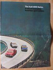 AUDI 4000 range orig large format 1981 USA Mkt sales brochure