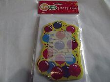 10 tarjetas de invitación de Fiesta/Cumpleaños Infantil Con Sobres. Gratis P&P