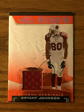 2006 Playoff Prestige BRYANT JOHNSON Game Used Jersey Relic Football Card