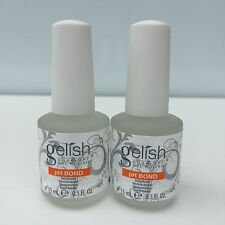 LOT 2- Harmony Gelish PH BOND Dehydrator Nail Prep Soak off Gel Colors 0.5 oz