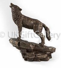 Heulen Wolverine Wolf Skulptur Tiere Statue Ornament - Kalt Gießharz Bronze