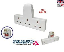3 WAY MAINS BLOCK TRIPLE SOCKET SPLITTER 13A UK PLUG ADAPTOR 1st class postage