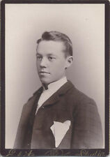 SHARP CABINET CARD PORTRAIT OF VERY WELL-DRESSED YOUNG MAN