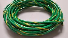 10 GAUGE THHN WIRE GREEN YELLOW 25 FEET THWN-2 600V COPPER STRANDED