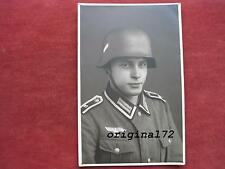 Foto Soldat in Uniform mit Stahlhelm M 35  2.WK  Top!!!!!!