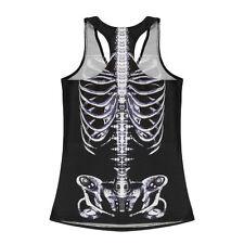 X-ray Skull Tank Top mediante Gothic Bones rockabilly Crossbones Skulls nuevo
