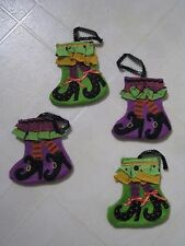 Halloween Table or Counter or Wall Decoration / Utensil Holder / Set of 4 / NEW