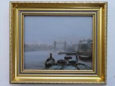 John foulger (1942-2007) POST Britannico olio impressionisti TAMIGI London
