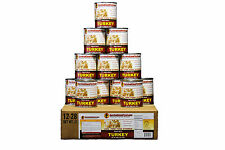 Survival Cave Food Canned Meat - Turkey Food Storage 12 Cans – 28 oz each