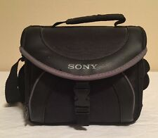 Sony LCS-X20 Soft Carrying Case for Camcorders Black with Grey Trim