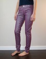 New Express Women's Stella Colored Coated Metallic Jeans Legging Size 2