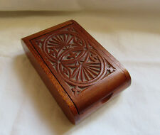 1955 Chip Carved Hinged Lid Box Signed Irvin Herbein