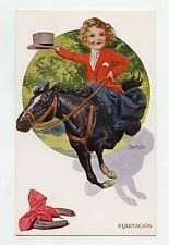 illustrateur CHANTECLER . SPORT EQUITATION. Cheval . Enfant . Child . Horse