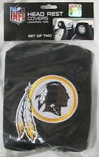 NFL NWT HEAD REST COVERS SET OF 2- WASHINGTON REDSKINS