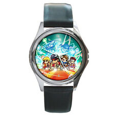 Ryu Ken Puzzle Fighter boys girls mens womens cosplay leather wrist watch
