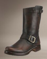 FRYE SHOES VERONICA SHORTIE BOOTS BRUSH OFF DARK BROWN LEATHER NEW 77511 8