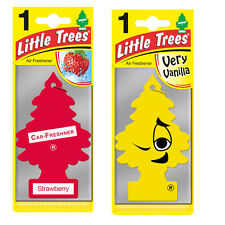 2 x Magic Tree Little Trees Car Air Freshener Scent STRAWBERRY+ VERY VANILLA
