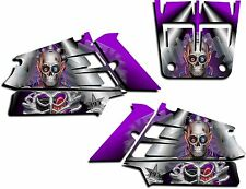 YAMAHA BANSHEE GRAPHICS WRAP DECAL STICKER KIT TURBO CHARGED SHROUDS PURPLE