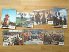 JOHN WAYNE The Undefeated 1969  vintage French lobby card set #1  ROCK HUDSON