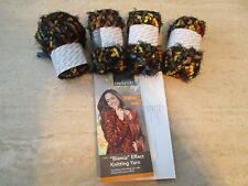 200g (4 x 50g Balls) Bianca Effect Knitting Yarn/Wool Autumn Browns and Oranges