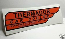 Red Thermador Car Cooler Sticker, LEFT HAND DRIVE,evaporative swamp cooler decal