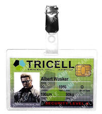 Resident Evil Albert Wesker ID Badge Tricell Cosplay Prop Costume Gift Comic Con
