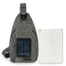 Outdoor Solar Backpack Solar Charger Crossbody Bag With 5.5V Solar Panel
