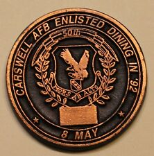 Carswell AFB Enlisted Dining In 1992 50th Anniversary Air Force Challenge Coin