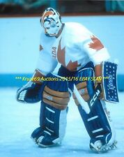 GRANT FUHR Makes BIG SAVE 8x10 Photo 1984 CANADA CUP 8x10 OILERS HOF WoW