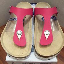 Birkenstock Gizeh 043681 size 36 L5-5.5 R Flamingo Pink Birko-Flor Thong Sandals
