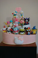 HELLO KITTY & FRIENDS 40TH ANNIVERSARY  COMPLETE SET W/CAKE STAND