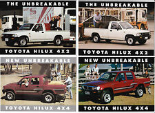Four 1991-94 TOYOTA N50 HILUX 4x4 & 4X2 Australian 2 Page Sheet Brochures