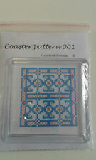 """*COASTER 001 ** IS A CROSS STITCH KIT  WITH COASTER 3"""" square"""