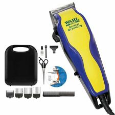 Wahl Pet Dog Animal Grooming Clipper Set Hair Chrome Plated Trimmer With DVD