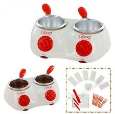 Electric Chocolate Candy Melting Pot Fondue Warmer 2 Cup w/ Accessories Mold NEW