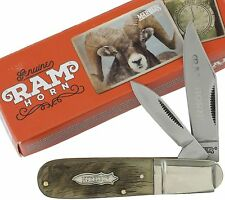 Marbles Rams Horn Handles Barlow Pocket Knife MR365 2 Folding Blades