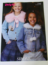 "Knitting Pattern Sirdar Funky Fur Child's Cape and Collar 56-81cm 22-32"" 2164"