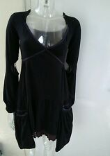 Desigual Womens Black Long Sleeve Stretch Hanging Pockets Dress Size M UK 12