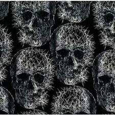 Fat Quarter Freak Out Gothic Pin Head Skulls 100% Cotton Quilting Fabric