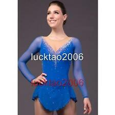 2016 New Figure Ice Skating Dress Costume Sparkle Brand icefairy #8857