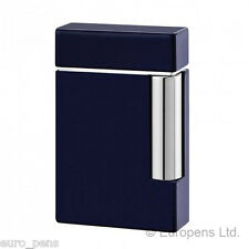 ST Dupont Lighter - Ligne 8 Glossy Navy Blue Lacquer (025104) Gift Boxed