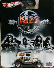 Hot Wheels 2013 Pop Culture Live Nation Kiss A-OK White w/ Real Riders Rock Band