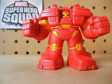Marvel Super Hero Squad RARE HULKBUSTER IRON MAN Red / Yellow from Rescue Pack